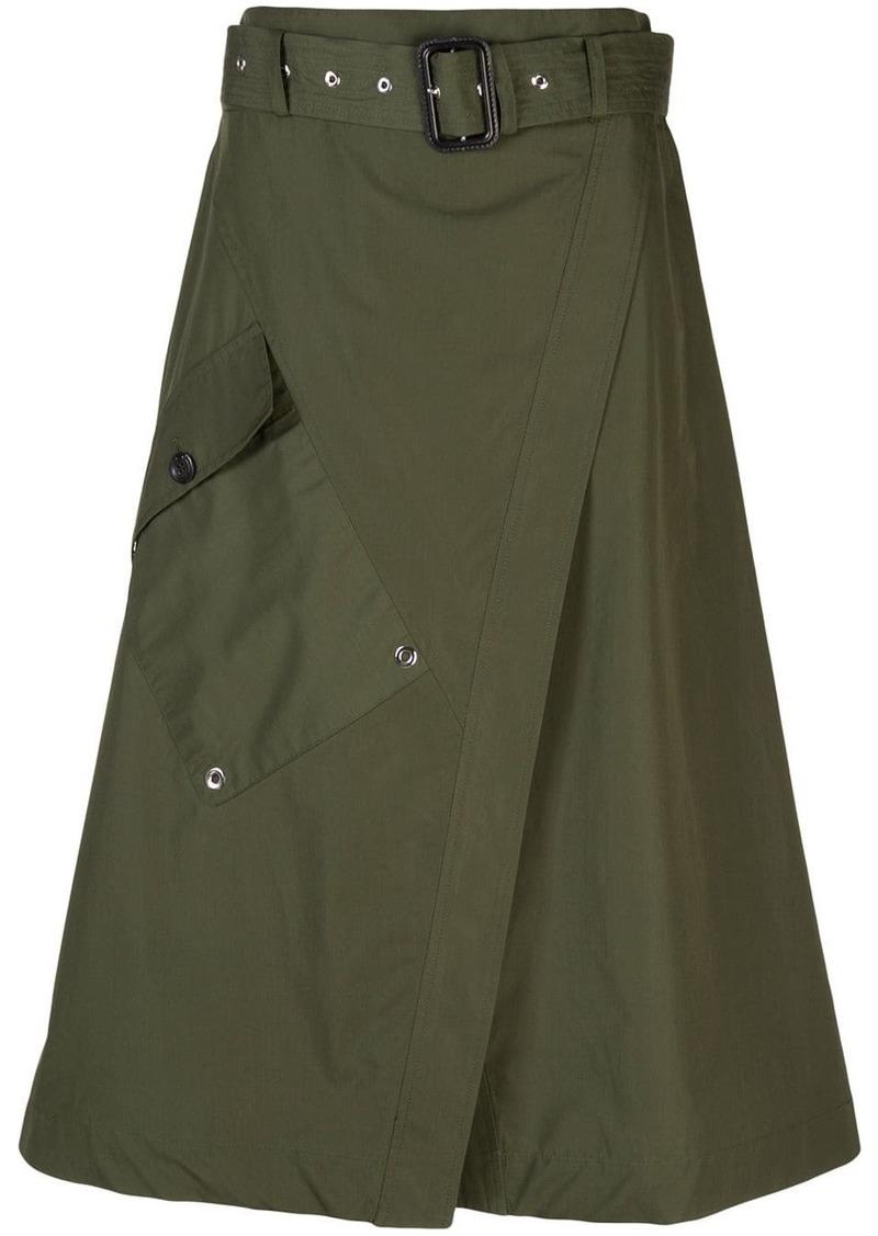 Derek Lam Paperbag Wrap Skirt