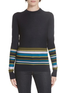 Derek Lam Partial Stripe Sweater