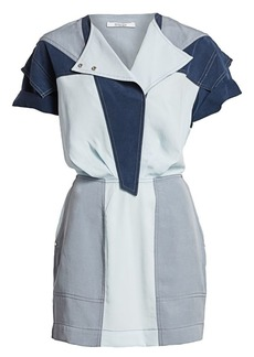 Derek Lam Patchwork Chambray Shirtdress