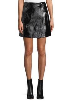 Derek Lam Patent Leather Wrap Mini Skirt