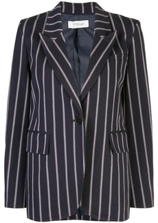 Derek Lam Pencil Striped Blazer with Contrast Rib Trim