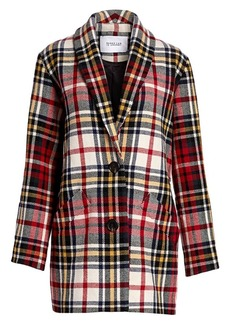Derek Lam Plaid Cocoon Coat