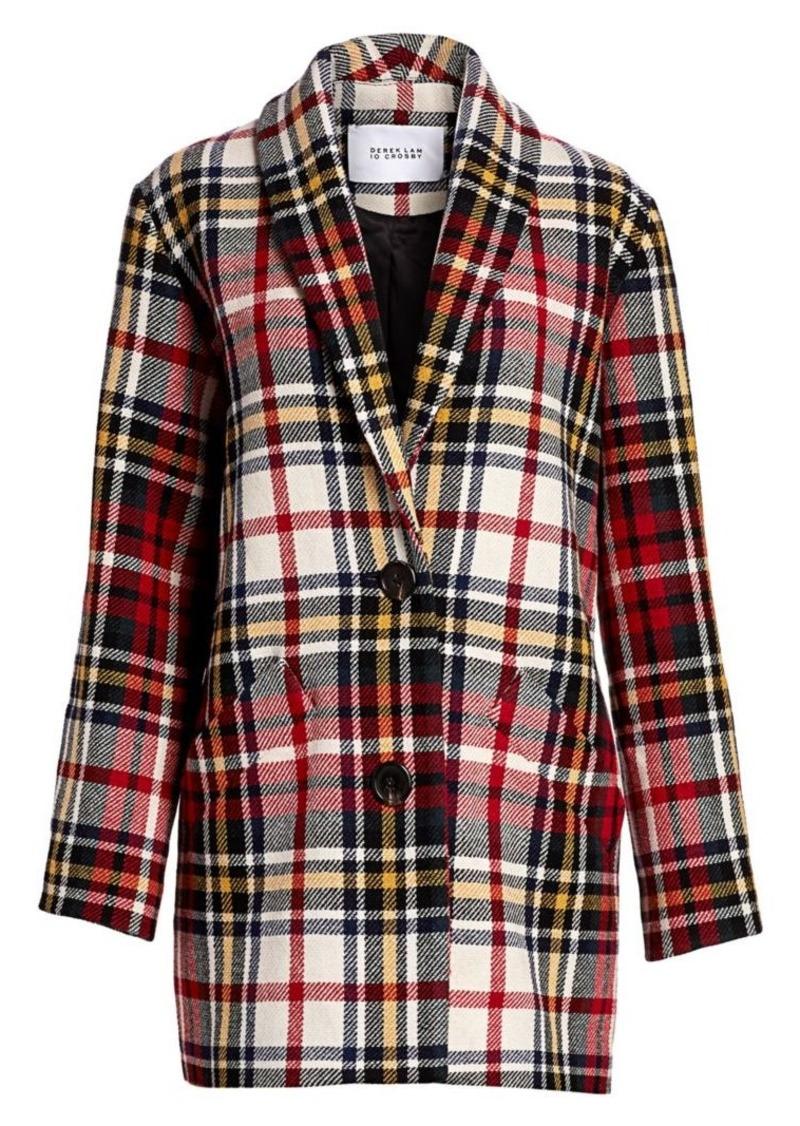 Derek Lam Plaid Cocoon Coat