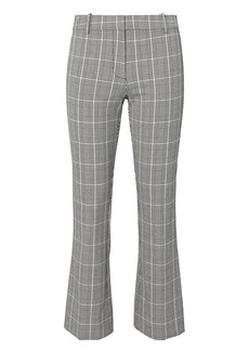 Derek Lam Plaid Cropped Flare Trousers
