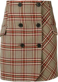 Derek Lam plaid mini skirt
