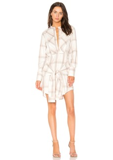 Derek Lam Plaid Shirt Dress