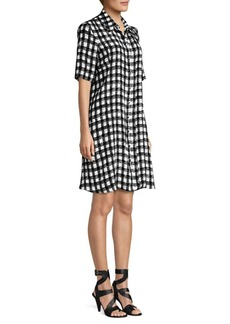 Derek Lam Plaid Silk Shirtdress