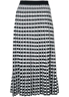 Derek Lam Pleated Check Skirt