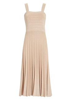 Derek Lam Pleated Lurex Knit Dress