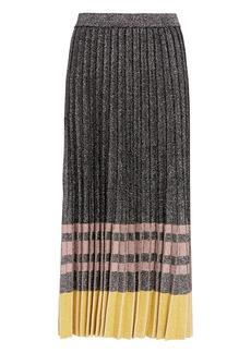 Derek Lam Pleated Lurex Knit Skirt