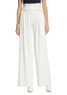Derek Lam Pleated Wide-Leg High-Rise Pants