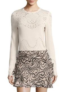 Derek Lam Pointelle Cotton Sweater