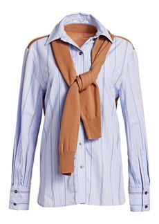 Derek Lam Poplin Shirt & Knit Sweater Combo