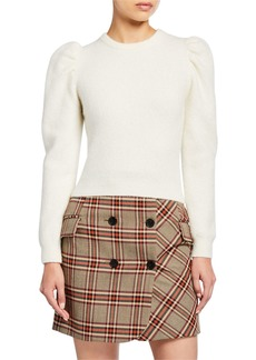 Derek Lam Puff-Sleeve Alpaca Sweater