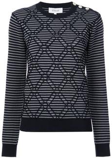 Derek Lam geometric embroidery jumper
