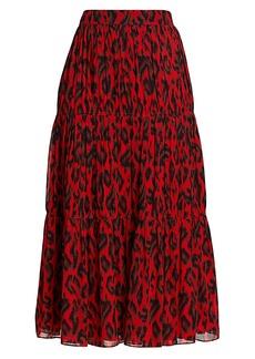 Derek Lam Qualley Abstract Leopard Skirt