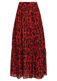 Derek Lam Qualley Leopard Print Maxi Skirt
