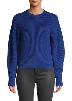 Derek Lam Raglan-Sleeve Cotton-Blend Sweater