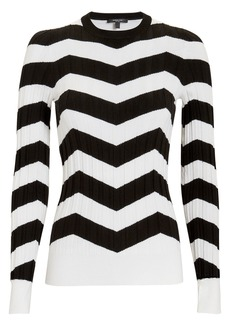 Derek Lam Ribbed Chevron Sweater