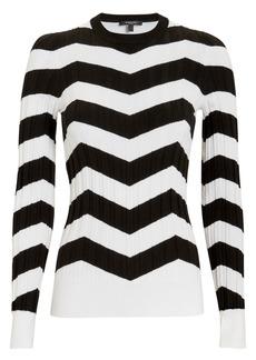 Derek Lam Ribbed Chevron Sweater