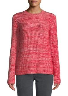 Derek Lam Ribbed Crewneck Merino Pullover Sweater
