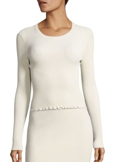 Derek Lam Ribbed Long Sleeve Pullover