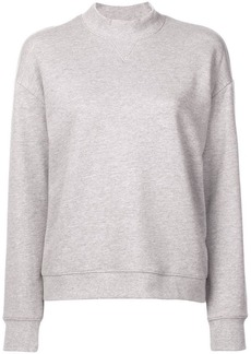 Derek Lam Ribbed Mock Neck Collar Sweatshirt