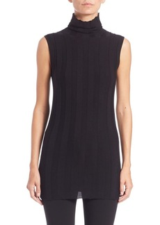 Derek Lam Ribbed Sleeveless Turtleneck Top