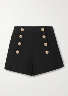Derek Lam Robertson Button-embellished Cotton-blend Shorts