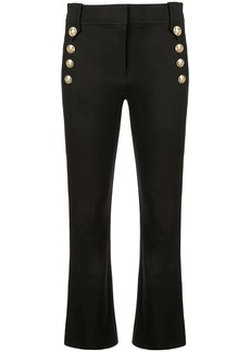Derek Lam Robertson Cropped Flare Trouser with Sailor Buttons