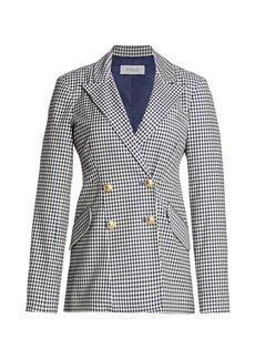 Derek Lam Rodeo Gingham Double-Breasted Blazer
