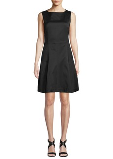 Derek Lam Round-Neck Sleeveless Fit-and-Flare Dress