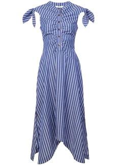 Derek Lam Ruched Bodice Midi Dress