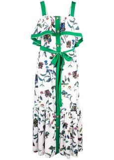 Derek Lam Ruffle Cami Botanical Print Maxi Dress