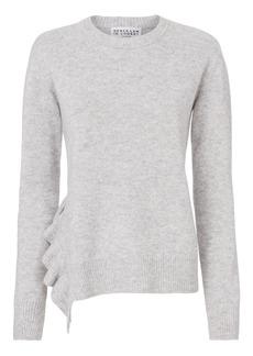 Derek Lam Ruffle Detail Asymmetrical Hem Sweater