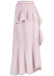 Derek Lam Ruffle Wrap Midi Skirt