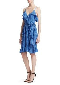 Derek Lam Ruffled Silk Wrap Dress