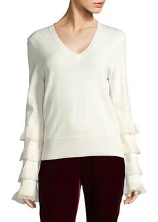 Derek Lam Ruffled Wool Sweater