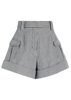 Derek Lam Ryder Striped Cargo Shorts