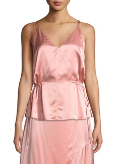 Derek Lam Satin V-Neck Cami with Side Ties