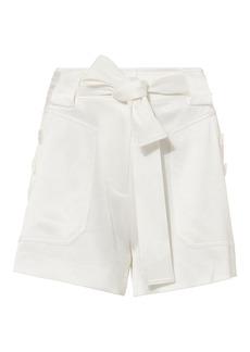 Derek Lam Satin White Shorts