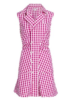 Derek Lam Satina Gingham Shirt Dress