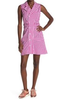 Derek Lam Satina Gingham Sleeveless Shirt Dress