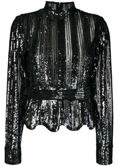 Derek Lam sequin stripe top