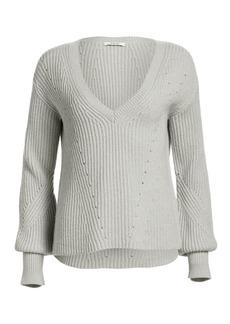 Derek Lam Shimmer Merino Wool Cashmere Sweater