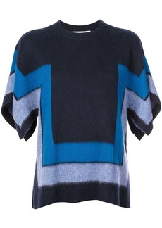 Derek Lam Short Sleeve Blanket Sweater