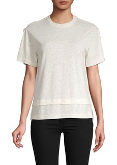 Derek Lam Short-Sleeve Cotton & Linen Blend Tee