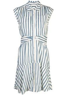 Derek Lam tie-waist striped shirt dress