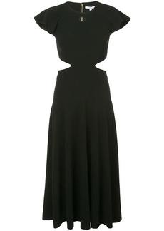 Derek Lam Short Sleeve Ruffle Midi Dress