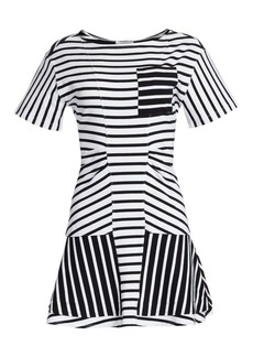 Derek Lam Short-Sleeve Striped T-Shirt Dress